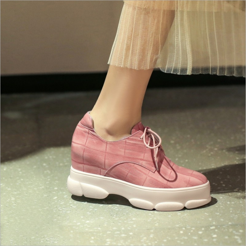 Pie Casuales pink Negro Del Bombas Black 2019 Lazo Otoño Las Rosa Zapatos Dedo De Mujeres Moda Nueva Encaje Primavera Redondo CqwRXHPf