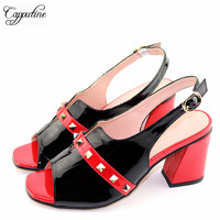 New African Fashion Style Black Color Shoes For Prom Party 2019 Summer Sell Well Fashionable Nigerian Shoes Size 38 44 TX 105