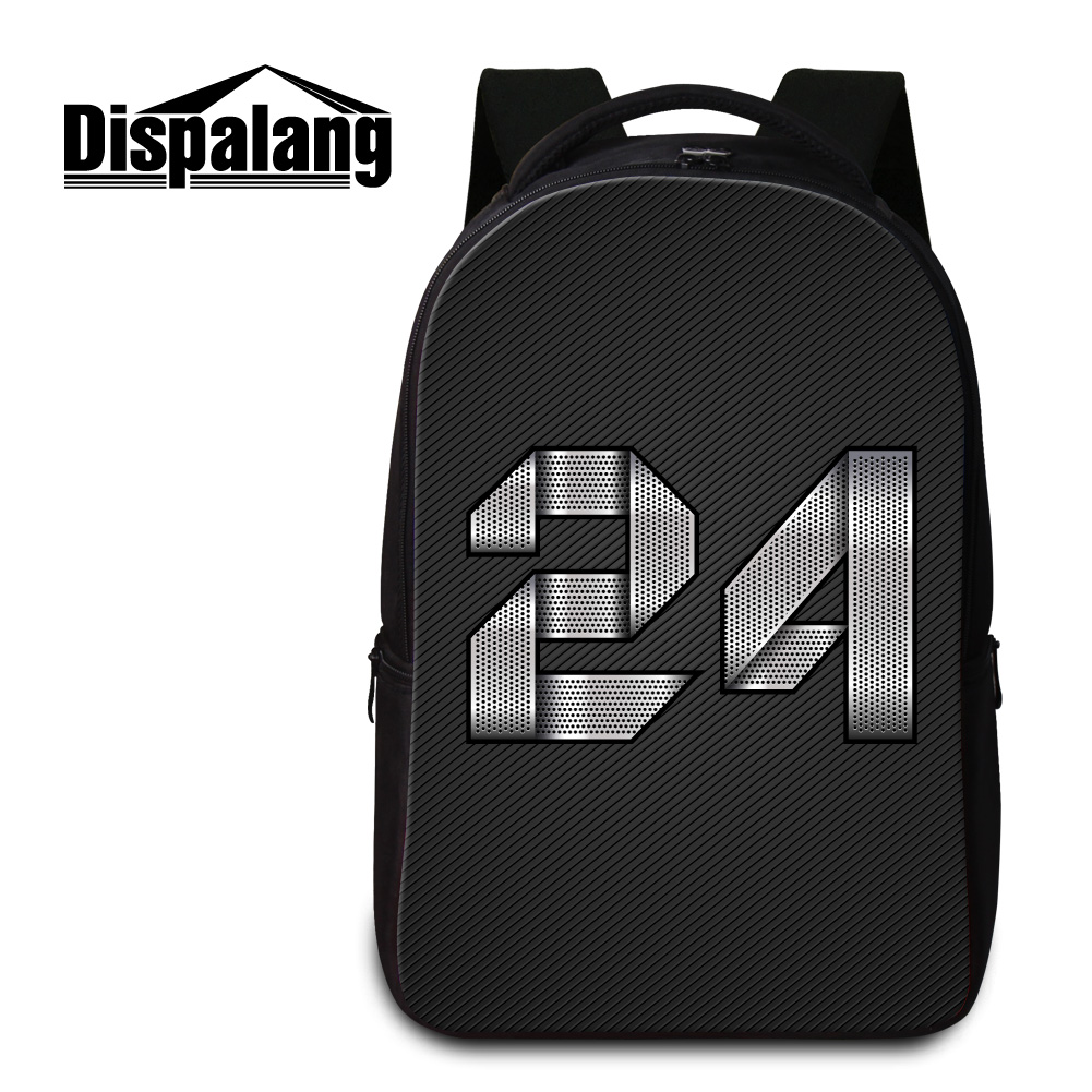 Dispalang 14 inch laptop backpack for college students 3D number printed women travel back pack cool black school bags for teens dispalang women laptop laptop backpack dog cat printed college school bags daily travel shoulder bag female notebook backpacks