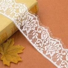 30yards / PACK 6.5cm Wide Black White Lace Fabric trim Wedding Decoration Sewing Applique Eyelashes Ribbon