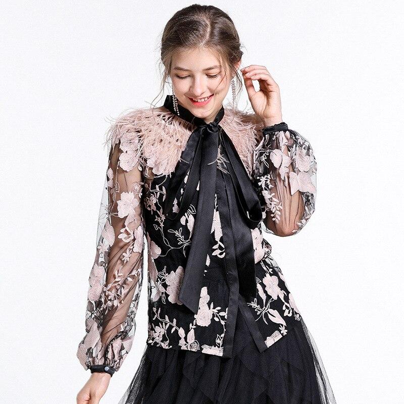 b983e0f7be2 Pluma-Patchwork-bordado-Floral-Primavera-Verano-2019-blusas-de-las-mujeres -Sexy-perspectiva-arco-elegante-camisas.jpg