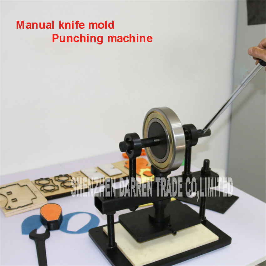 Hand Leer snijmachine, fotopapier, PVC/EVA blad cutter mold, handleiding Lederen Schimmel/Sterven snijmachine Handleiding sterven druk - 4