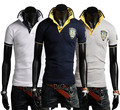 Verano Da Vuelta-abajo de la Camiseta de Los Hombres Camisas de Polo Del Todo-Fósforo de La Camiseta Casual Para Hombre Camisetas Camiseta de La Moda Camisa de La Tapa calidad