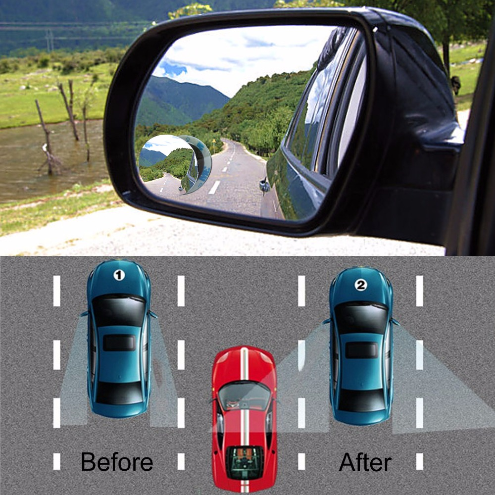 2pcs lot new 360 degree car mirror wide angle round convex blind spot mirror for