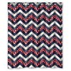 CHARMHOME Dark Blue Red And White Star Chevron Bathroom Waterproof Mildew Proof Polyester Fabric Shower Curtain