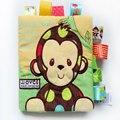 3 Atividade Livro de Estilo Dos Desenhos Animados Animal Macio Brinquedo Educacional Do Bebê livro de pano de pelúcia animal bebê plush toys com chocalhos bb dispositivo