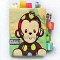 3 Style Activity Book Cartoon Animal Soft Baby Educational Toy Cloth Book Plush Animal Baby Plush Toys With Rattles BB Device