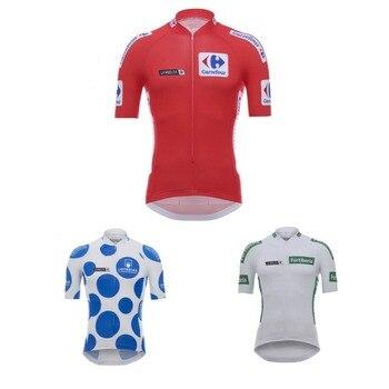 2018 La Vuelta di spagna 4 di colore pullover di riciclaggio Della Bicicletta di estate maglia traspirante MTB Breve bici del manicotto abbigliamento Ropa ciclismo solo