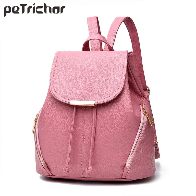 Petrichor Tassel String Big Capacity Black Backpack Female PU Leather Women Shoulder Bags Girl School Bag Ladies Backpack Purse цена в Москве и Питере