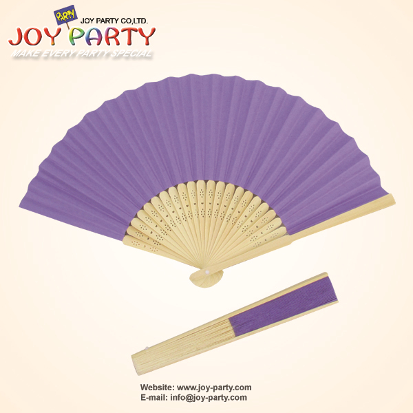 10ks / lot 21cm fialový papír ruční ventilátor svatební party DIY dekorace propagační dárky