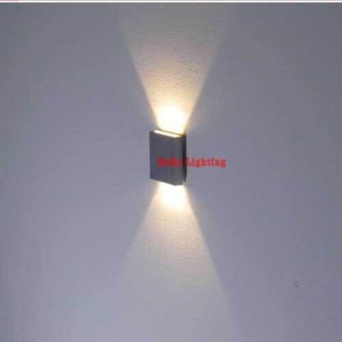 60 60mm Aluminum Wall Light Multi Light Color 90 260V 3W Up Down Led Wall Lamp