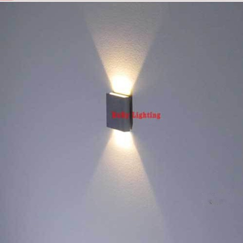 60*60mm Aluminum Wall Light Multi Light Color 90~260V 3W Up Down Led Wall Lamp Indoor Stair Lighting Wall Sconce WWL030