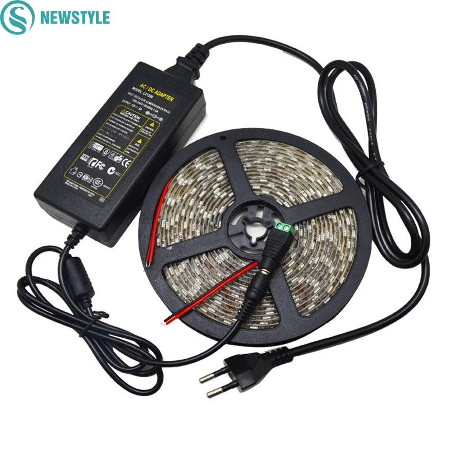 20 наборов DC12V 60 Светодиодный s/M Светодиодные ленты RGB 5050 SMD полосы огни + 12 В 6A Мощность ...