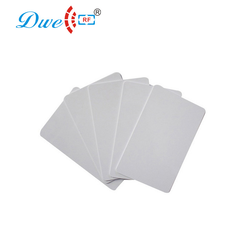 DWE CC RF white rewritable blank card 5200 or UID chip proximity cards for master card copy 20pcs per lot