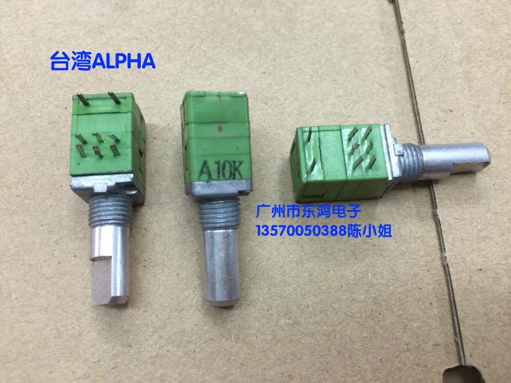 2PCS/LOT Taiwan ALPHA Alfa RK097 type double precision potentiometer A10K band switch shaft length 17mm наклейки tony 2 74 alfa romeo mito 147 156 159 166 giulietta gt