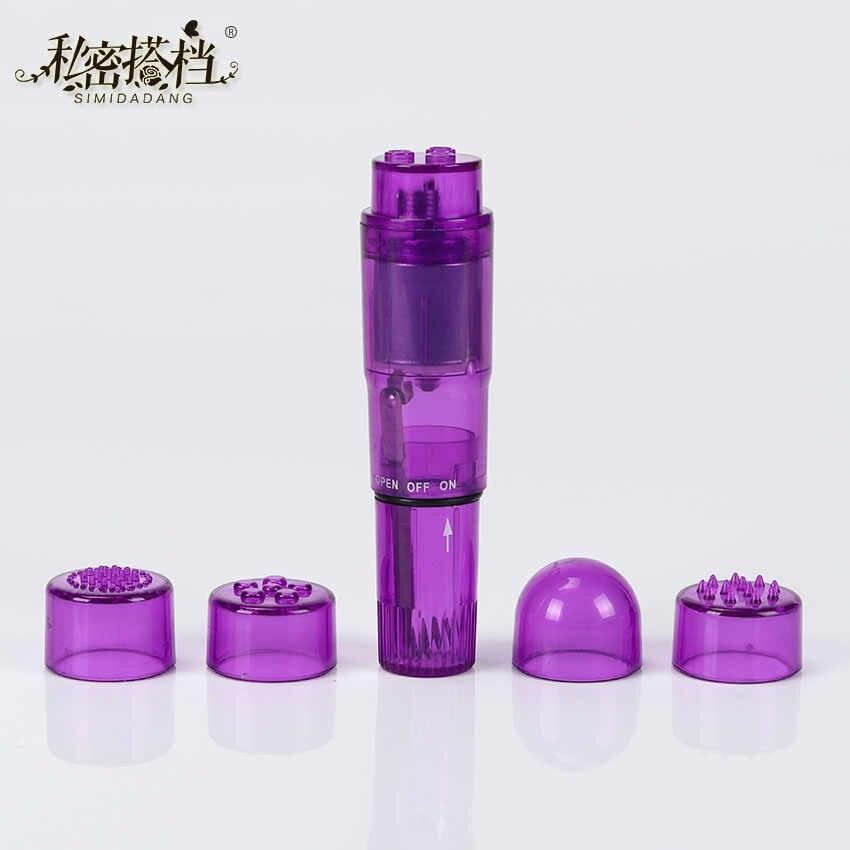 1 Set Mini G Spot Vibrator 4 Dipertukarkan Tahan Air Mini Massager Wanita Klitoris Stimulator Vibrator Mainan Seks