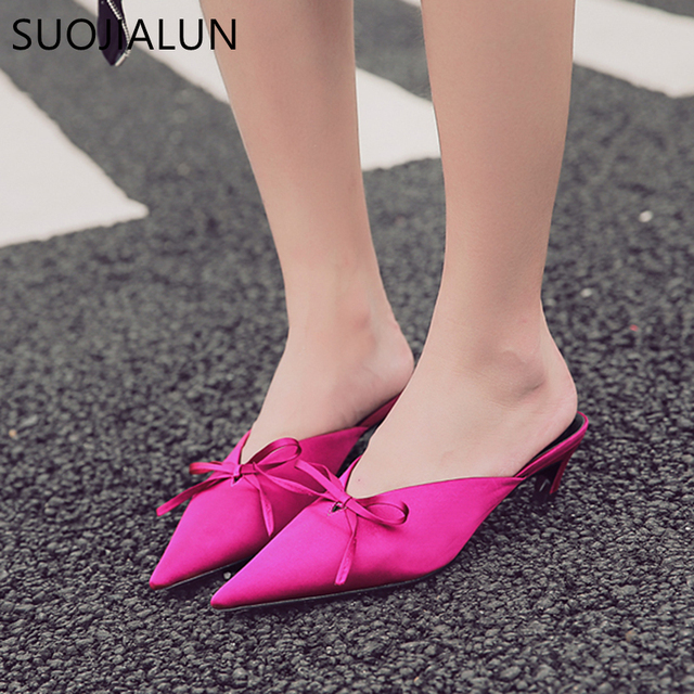 Women Pointed Heels Mules Outdoor Shoes