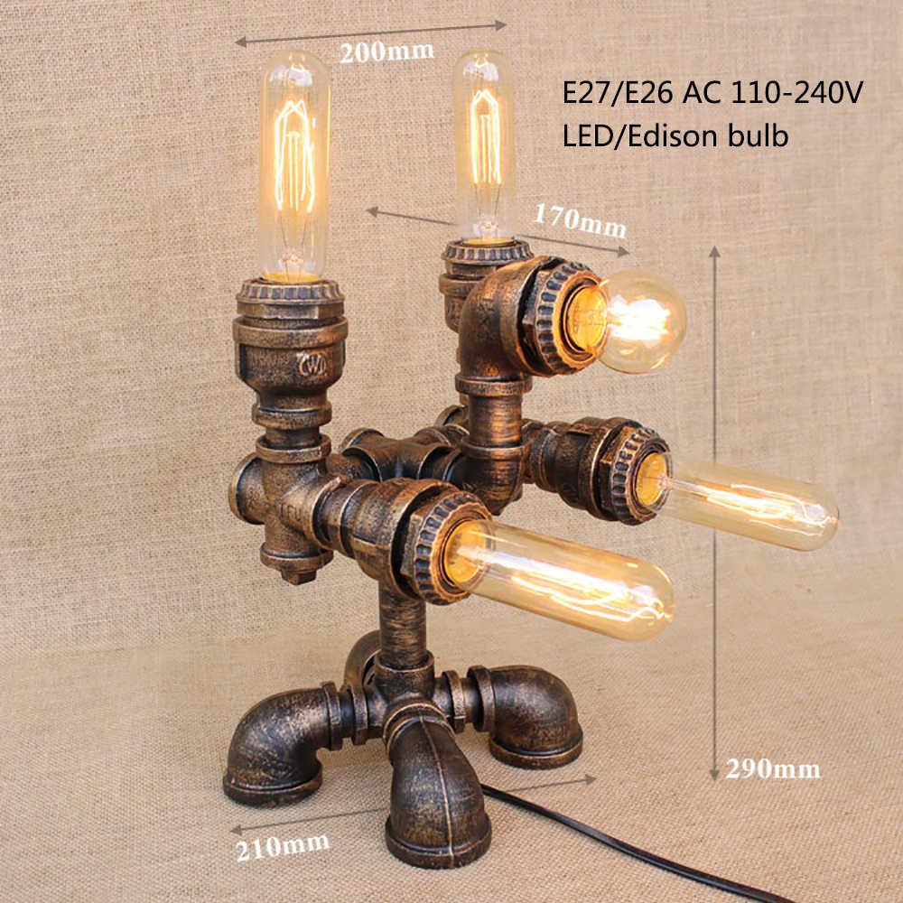 Кантри арт-деко современный стиль СТИМ панк настольная лампа e27/e26 настольная лампа для постели спальня/гостиная/офис/бар/кафе