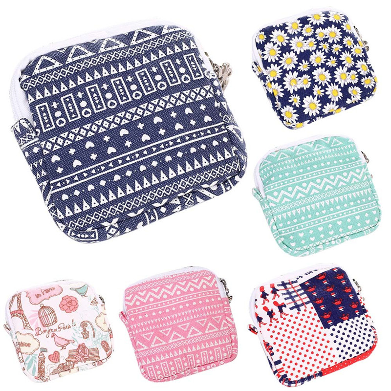 Women Girl Cute Sanitary Pad Organizer Holder Napkin Towel Convenience Bags