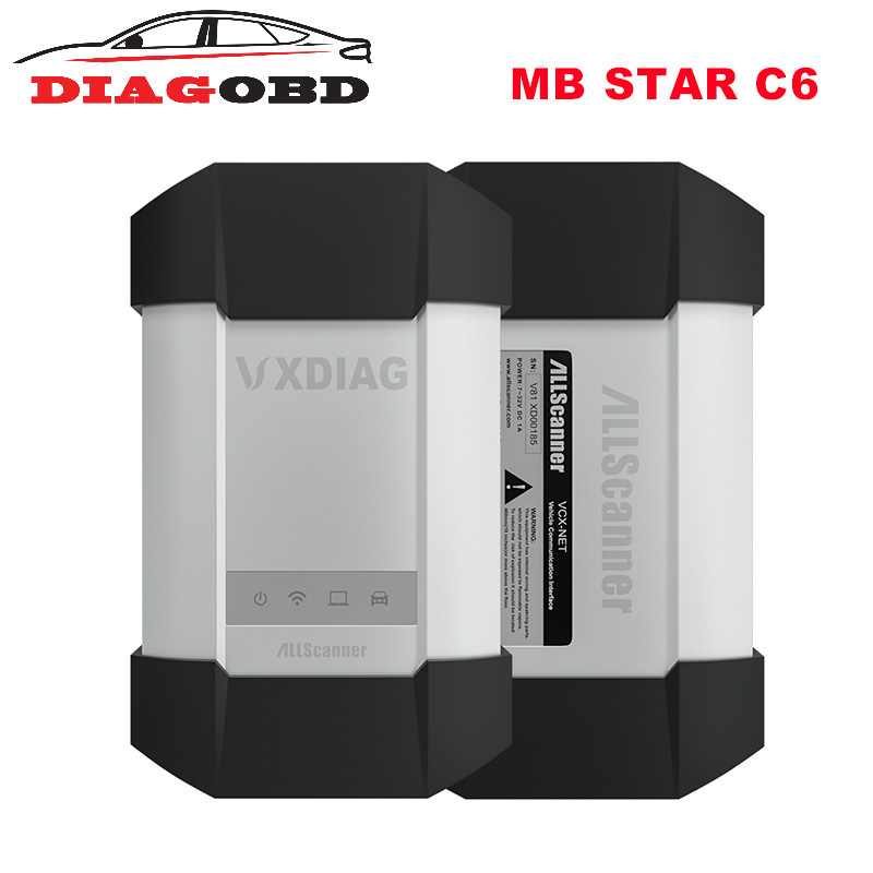 VXDIAG C6 Professional OBD2 Diagnostic Tool for Benz than MB SD C4/C5 With Wireless For Mercedes Benz Car and Truck top quality for mercedes for benz cr1 cr2 immo emulator for mercedes for benz mb immobilizer emulate tool