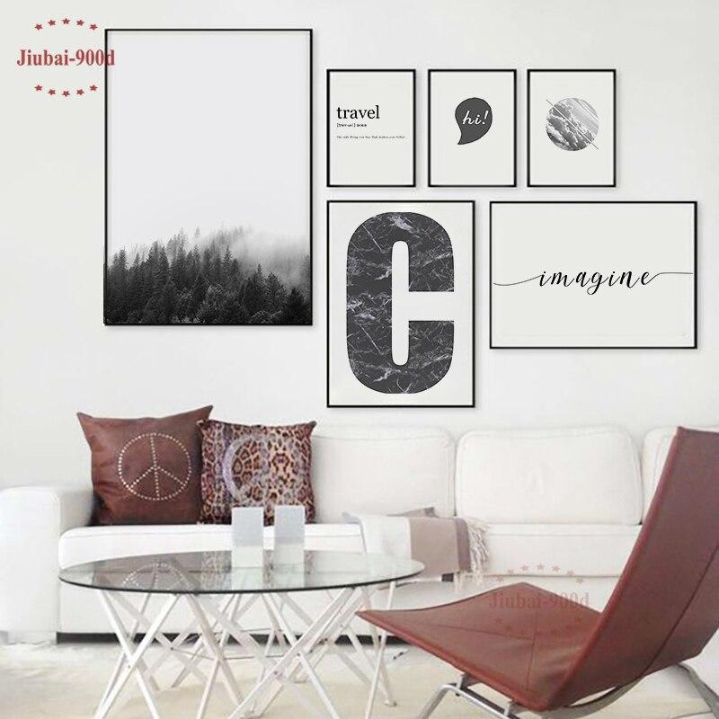 900d Nordic Wald Poster Und Drucke Wand Bilder Für Wohnzimmer Leinwand Malerei Wand Kunst Dekoration Landschaft Ym006 Kaufe Eins, Bekomme Eins Gratis