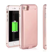 4000 5000Mah New Metal Frame Portable External Battery Case For IPhone 7 7plus Case Spare Battery