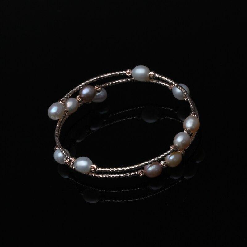 Mode Natürliche Süßwasser Doppel Perle Armband Für Frauen, Einstellbare Armband Mädchen Geburtstag Geschenk