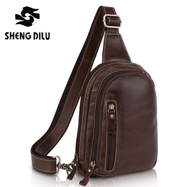 9adc30deb9 new 2016 Swiss army knife men Brand messenger bag waist pack genuine  leather casual men's bag