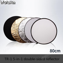 Thick high quality fabric TR-1 five-in-one double-sided photographic reflector 80CM to send a carrying case CD50 T08(China)