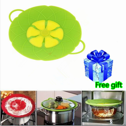 Cooking Flower Petal Unti Spilling Lid Stopper Silicone Pot Lid Cover For Pan Cookware Parts Kitchen