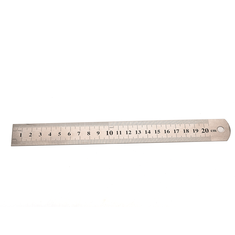 Drafting Supplies School & Educational Supplies 15cm Metal Ruler Metric Rule Precision Double Sided Measuring Tool High Resilience