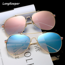 Brand Pilot Sunglasses Men Sun Glasses For Women Oval Pink Metal Frame Retro Goggles UV400 Gafas de