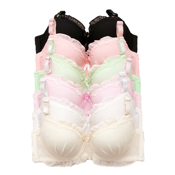 Pure Color Lace No Rims Small Chest Young Girl Bra