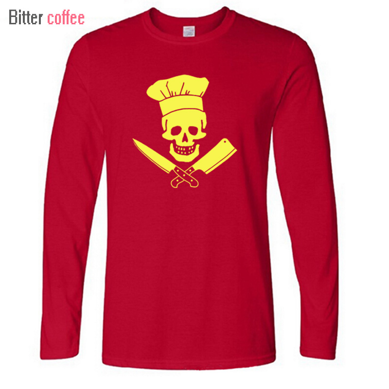 Us 1259 10 Offnowa Moda Jesień I Zima Szefa Kuchni Czaszka Grill Master T Shirt Diety Kulinarne Grillowanie Grill Gotowanie Drukowanie T Shirt W