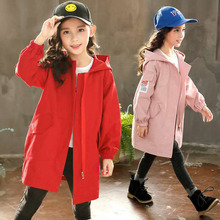 Kids Coats For Girls Spring Autumn Trench Children Outerwear Fall Girls Windbrea