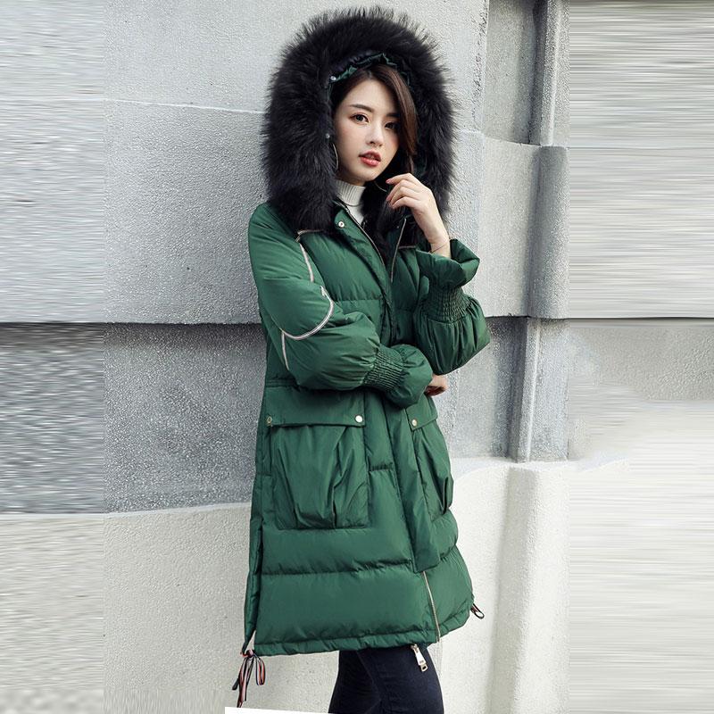 8098d2c07c196 Occasionnel Couleur À 138 Fourrure Black Solide Veste Col Manteau Long Parka  Capuchon Coton green Mince Réel Hiver Femme Femmes khaki De D hiver  Rembourré ...