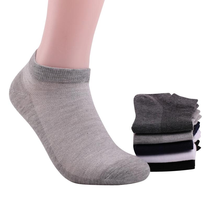 Men Summer Mesh Ankle Socks Cotton Male White Short Socks Mans Boat Socks 5pairs/lot