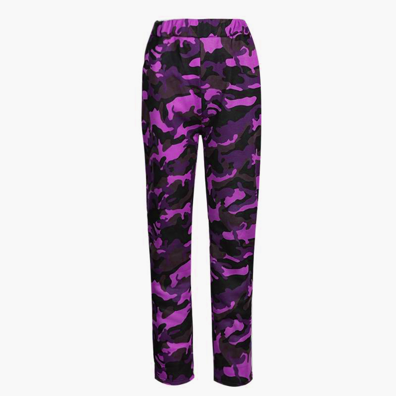Women Camouflage Pants Casual Camo Sweatpant High Waist Loose Ladies Trousers