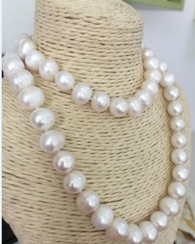 HUGE 11-13MM NATURAL SOUTH SEA GENUINE WHITE PEARL NECKLACE 35 925silver GOLD CLASP huge elegant 15 mm freshwater black pearl necklace 18 inch 925silver clasp