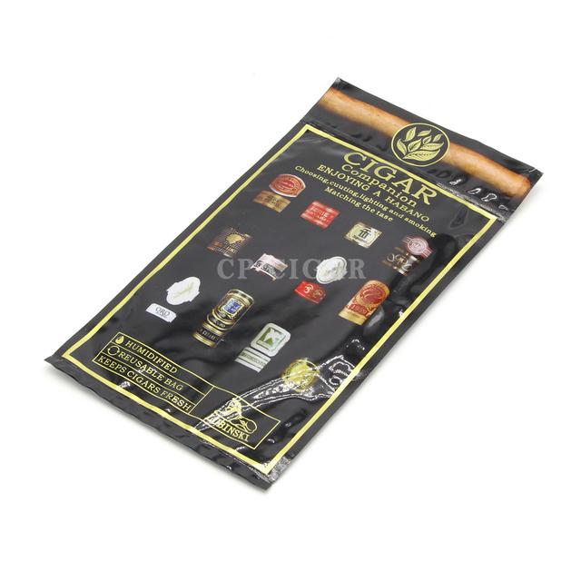Profession Plastic Humidifier Cigar Bag 65-75% RH 90Days Cigar Bag Portable