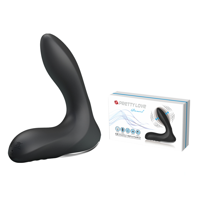 Pretty Love USB rechargeable 12 Mode anal vibrator inflatable anal toys prostate massager butt plug sex
