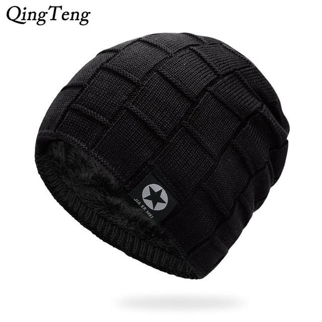 Mens Winter Hat Casual Brand Knitted Ladies Hats Beanies Stocking Hat Plus  Velvet Rasta Cap Skull Bonnet Hats For Men 4f18481f666