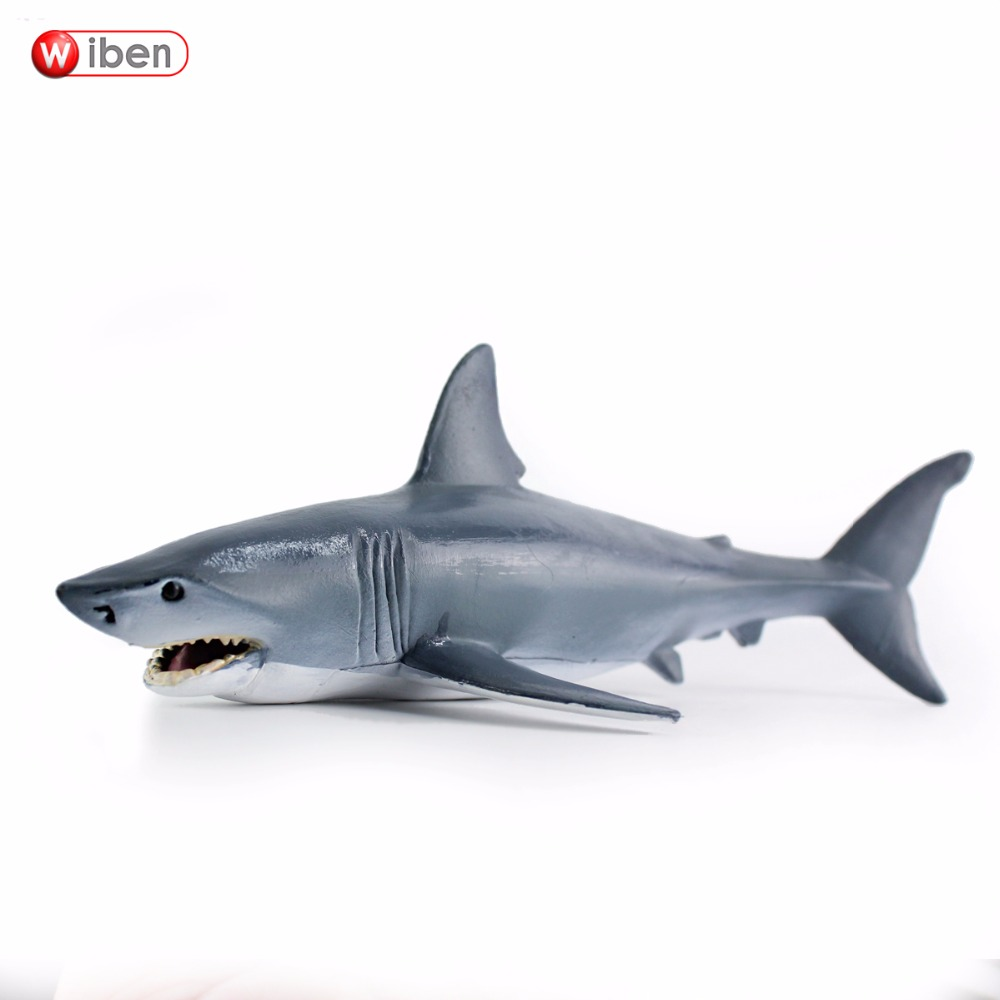 Wiben Sea Life Blue shark Simulation Animal Model Action & Toy Figures Learning & Educational Collection Gift for Kids