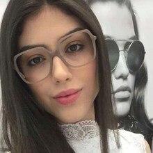 3a65e1982 ANEDF السيدات جديد المتضخم مربع إطارات النظارات الرجال النساء العلامة  التجارية مصمم النظارات البصرية الأزياء Eyewes