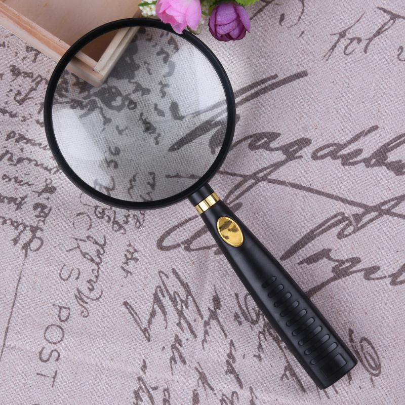 10X Handheld Magnifying Glass High Definition Optical Real Glass Magnifier Lens For Reading Map Newspaper Jewelry Loupe 10x magnifying glass 60mm portable handheld magnifier for jewelry newspaper book reading high definition eye loupe glass