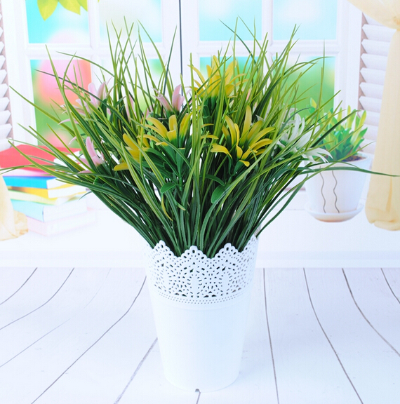 2016 Spring Artificial Plants Silk Flowers Green grass Garden Plants Home decoration MA2209