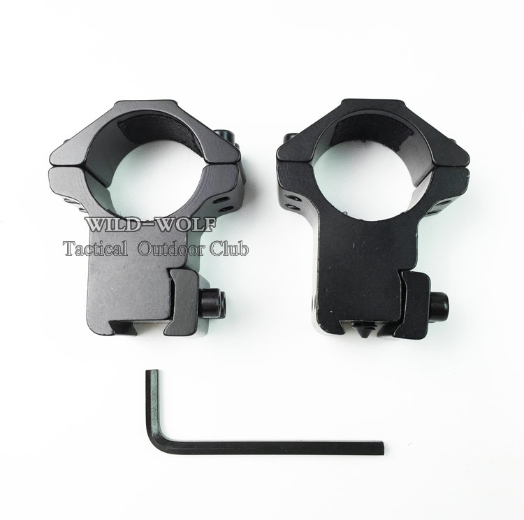 """Hunting High Profile 1/"""" 25.4mm Scope Mount Rings For 11mm Picatinny Rail Adapter"""