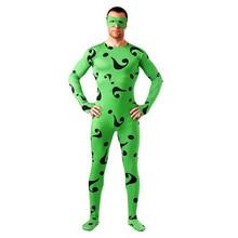 Green Question Mark Zentai Full Body Lycra Tights Unisex Spiderman helloween cosplay costume