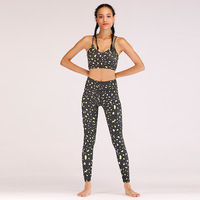 GXQIL Leopard Fitness Sports Suit Clothing High Quality Gym Woman Sportswear 2019 New Sport Workout Clothes Active Wear Womens S