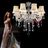 White Crystal Lighting Chandeliers Modern Crystal Chandelier For Living Room Lights Bedroom Lamp K9 Crystal Chandelier